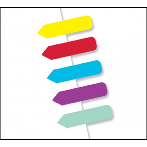 Assorted Colors 150 Flags Redi -Tag Mini Arrow Blank (72001)