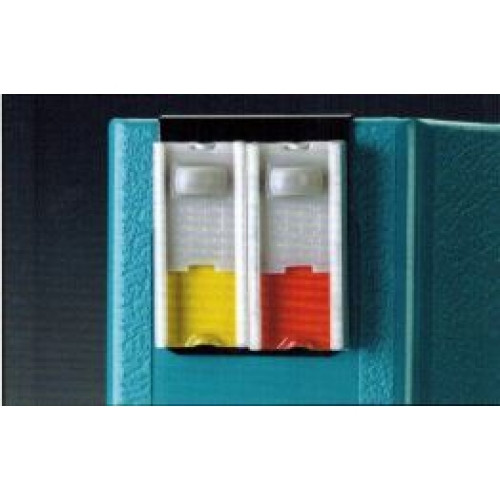 "Stat-Chek Alert Clips are two-color alerts that clip securely onto the spine of 1"", 1-1/2"", 2"", 3"", and 4"" ringbinder charts. (4160)"