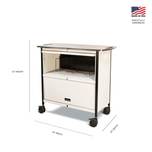 Mov-it Elite Chart Rack: Series III  Medium Linen
