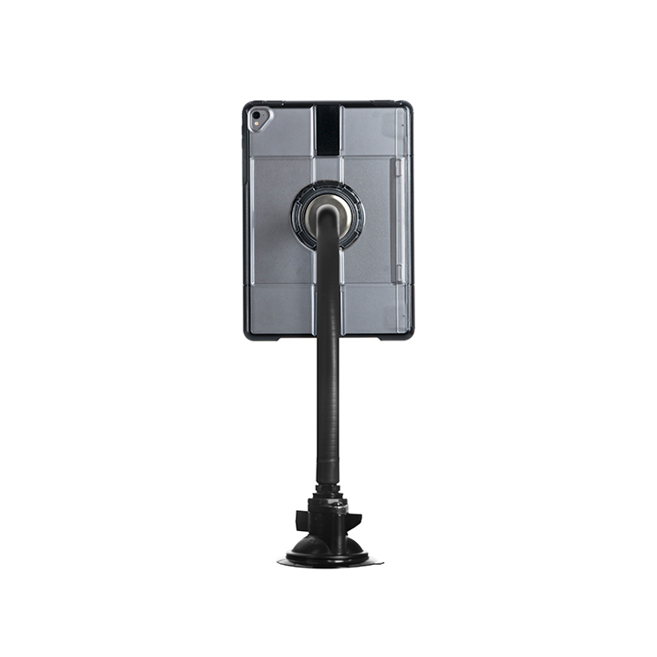 The Fastn-it Magneflex: Suction mount attaches firmly to any smooth surface, providing a convenient grab and go magnetic attachment point for hands free tablet use.
