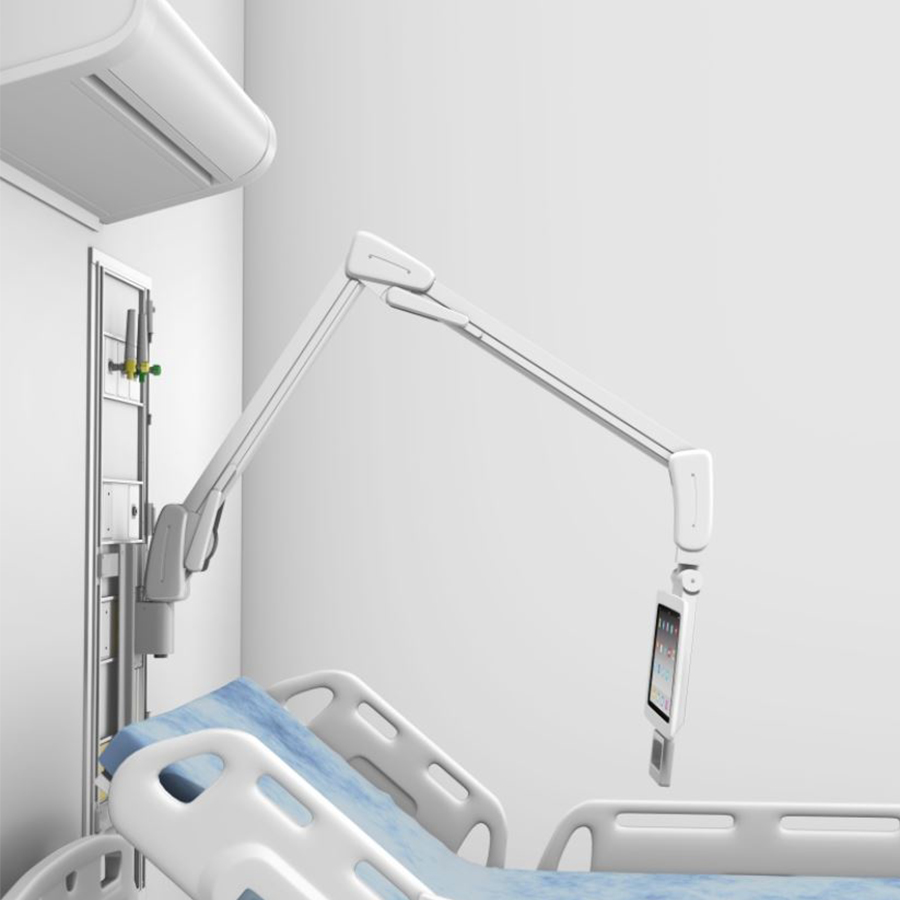 GCX Patient Tablet Arm attached to headwall.