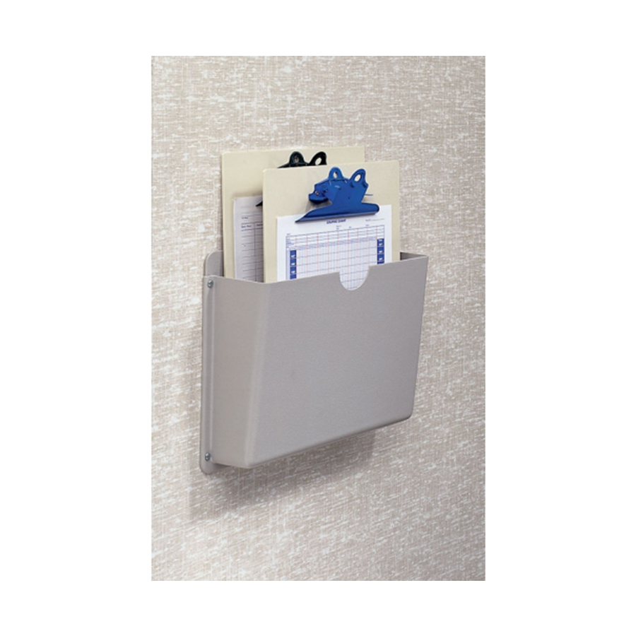 """Wall Mount Beige Chart Holder for temporary storage of one ½"""" - 3"""" Ringbinder charts."""