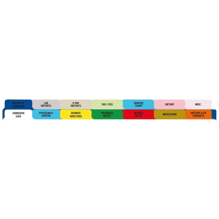 Acute Medical Chart Dividers: Side Open Tabs