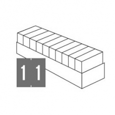 Ames Compatible Laminated Numeric Series Set 10 [0-9]