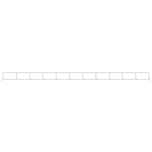 T/O Blank 11 Tab Set Poly Dividers - Antimicrobial