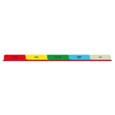 T/O Emergency Department 5 Tab Poly Divider Set - Antimicrobial