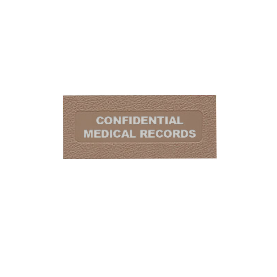 Confidential Medical Records: Side Open Ringbinder for Healthcare