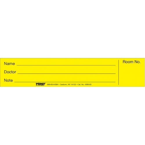 Spine ID Insert Card Flat Printed - ALL COLORS