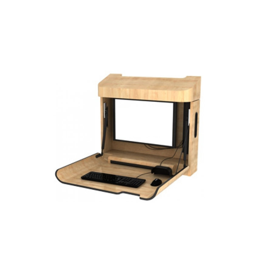 Single Compartment Wall Mounted Computer Workstation (All-In-One-Computers) (PX1001)