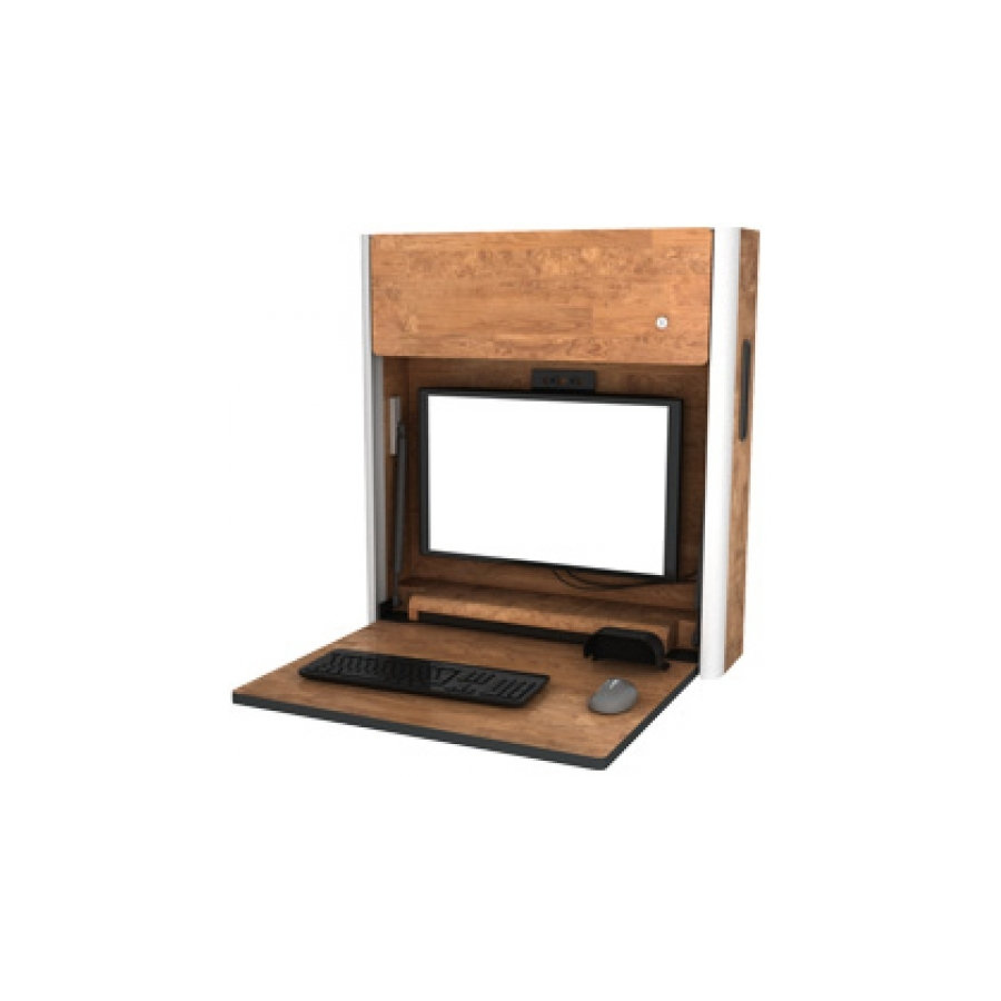Single Compartment Wall Mounted Computer Workstation First
