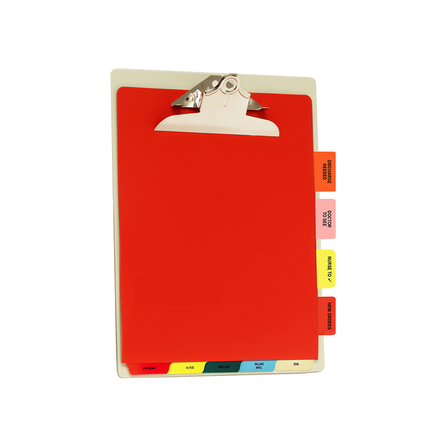 Customized ED Clipboard Pak includes one Letter size Antimicrobial Clipboard