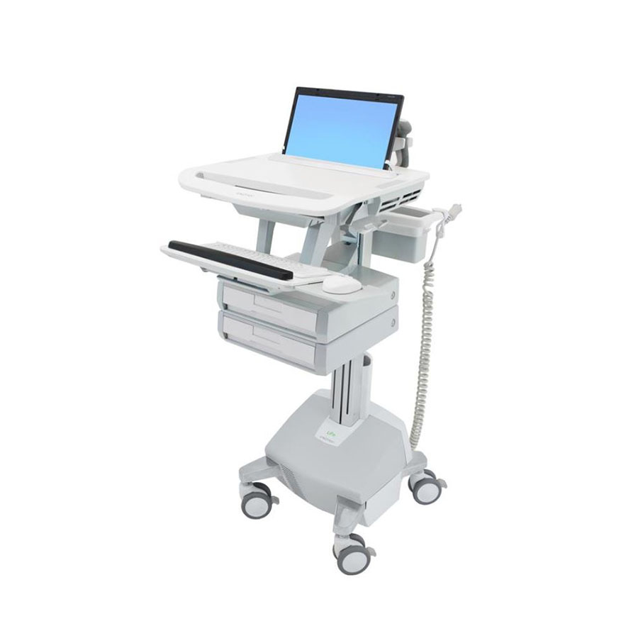 StyleView® Laptop Cart, LiFe Powered, 2 Drawers (1x2)
