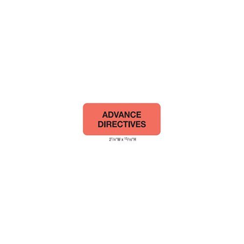 """Advance Directives"" Red Fluor (50700)"