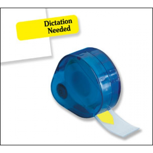 """Dictation Needed"" 120 Flags Redi -Tag Arrow Printed Yellow (91249)"