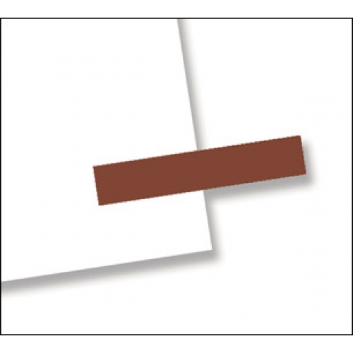 "3/16"" x 1"", 300 Flags Redi -Tag Small Solid Brown"