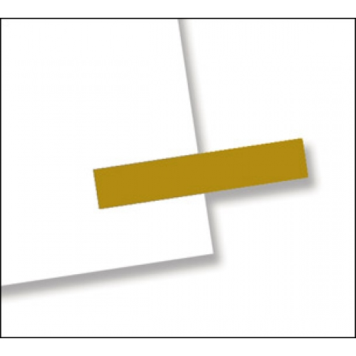 "3/16"" x 1"", 300 Flags Redi -Tag Small Solid Gold"