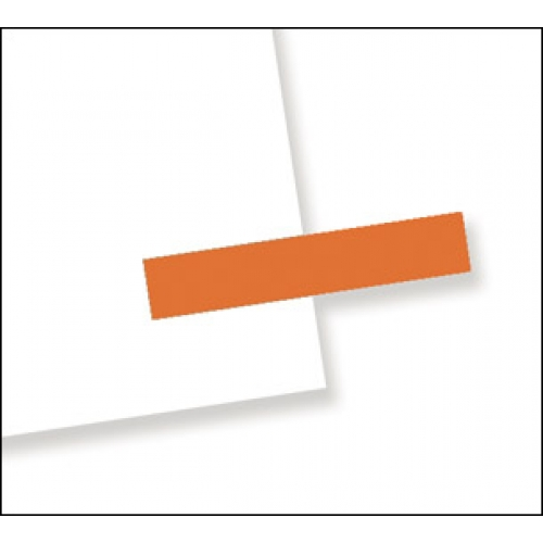 "3/16"" x 1"", 300 Flags Redi -Tag Small Solid Orange"