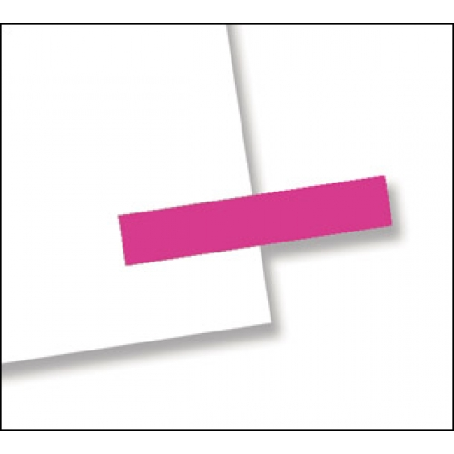 "3/16"" x 1"", 300 Flags Redi -Tag Small Solid Pink"