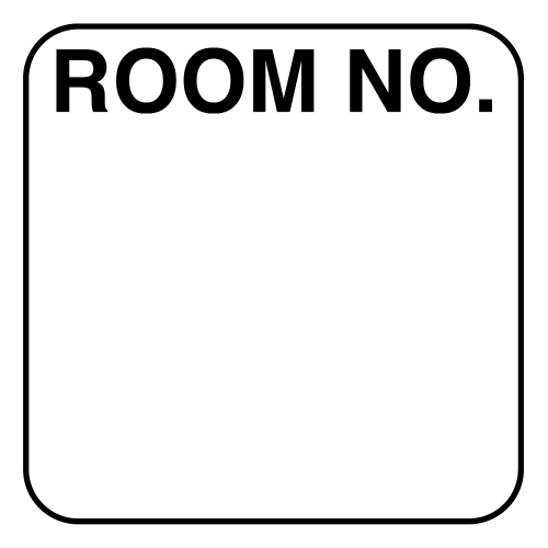"Standard Room Number Label 1 5/16"" W x 1 5/16"" H, 200/Roll (5030)"