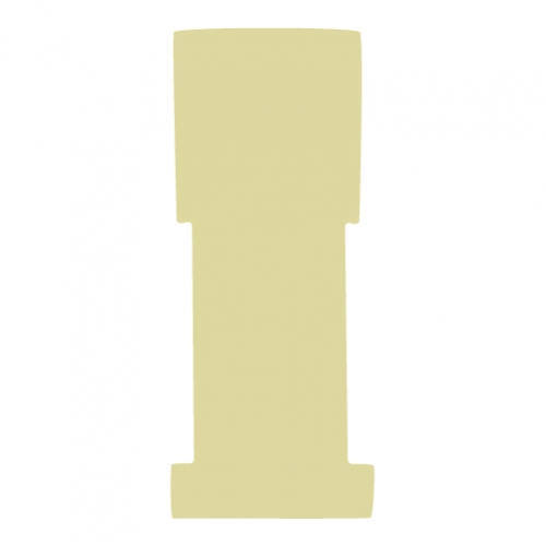 "1-5/8"" W x 5"" H - Antimicrobial Stat Flag Alert Blank, Beige"