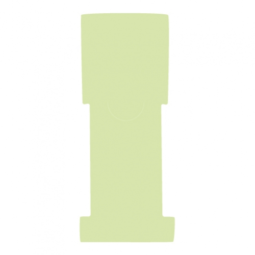 """1-5/8"""" W x 5"""" H - Antimicrobial Stat Flag Alert Blank, Lime"""