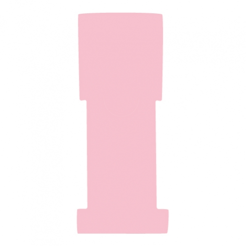 "1-5/8"" W x 5"" H - Antimicrobial Stat Flag Alert Blank, Pink"