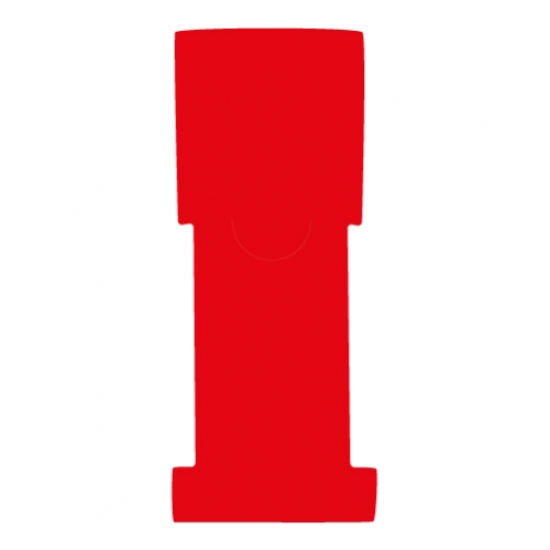 "1-5/8"" W x 5"" H - Antimicrobial Stat Flag Alert Blank, Red"