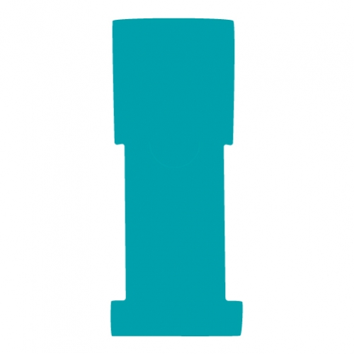 "1-5/8"" W x 5"" H - Antimicrobial Stat Flag Alert Blank, Teal"