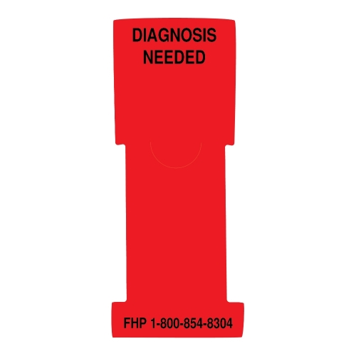 """Diagnosis Needed"" Stat Flag Alert, Red, Antimicrobial"