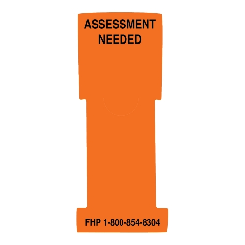 """Assessment Needed"" Stat Flag, Orange, Antimicrobial"
