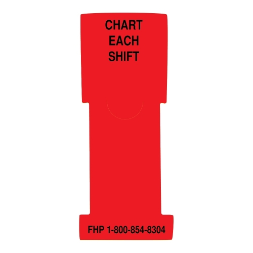 """""""Chart Each Shift"""" Stat Flag, Red, Antimicrobial"""