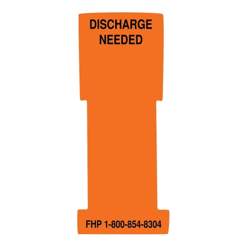 """""""Discharge Needed"""" Stat Flag, Orange, Antimicrobial"""