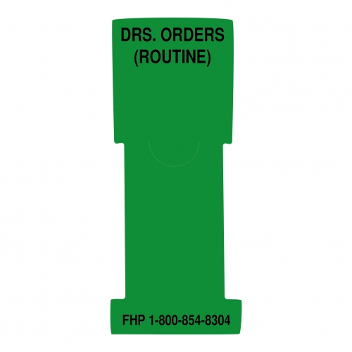 """Doctor's Orders (Routine)"" Stat Flag, Green, Antimicrobial"