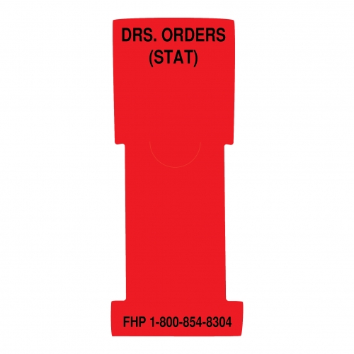 """""""Doctor's Orders (Stat)"""" Stat Flag Alert, Red, Antimicrobial"""
