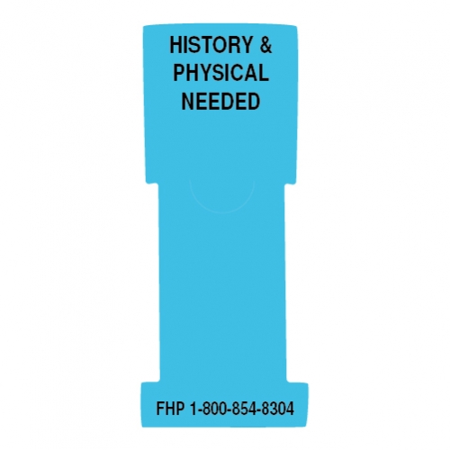"""""""History & Physical Needed"""" Stat Flag, Light Blue, Antimicrobial"""