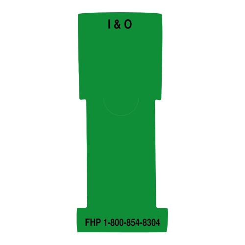 """I & O"" Stat Flag, Green, Antimicrobial"