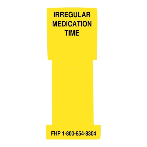"""Irregular Medication Time"" Stat Flag, Yellow, Antimicrobial"