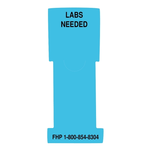 """""""Labs Needed"""" Stat Flag, Light Blue, Antimicrobial"""