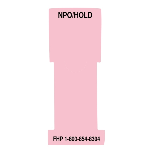 """""""NPO/ Hold"""" Stat Flag, Pink, Antimicrobial"""