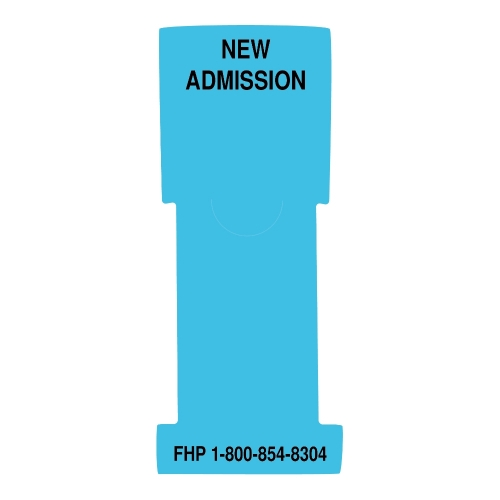 """New Admission"" Stat Flag, Lt. Blue, Antimicrobial"