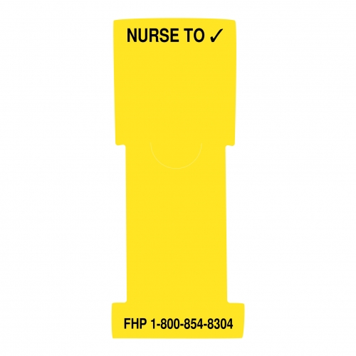 """Nurse to (check mark)"" Stat Flag, Yellow, Antimicrobial"