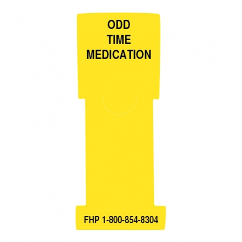 """Odd Time Medication"" Stat Flag, Yellow, Antimicrobial"