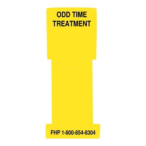 """Odd Time Treatment"" Stat Flag, Yellow, Antimicrobial"