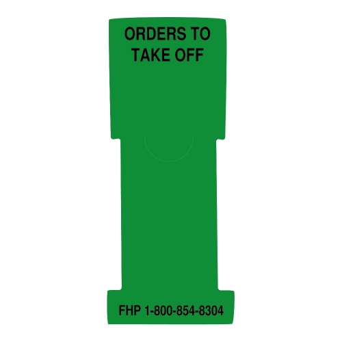 """""""Orders to Take Off"""" Stat Flag, Green, Antimicrobial"""