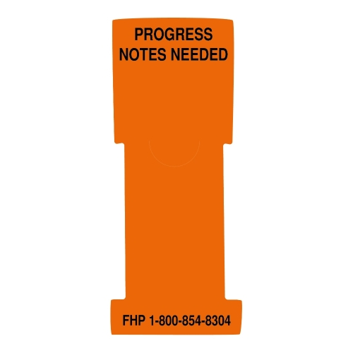 """Progress Notes Needed"" Stat Flag, Orange, Antimicrobial"