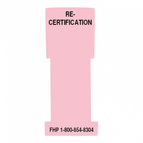 """""""Re-Certification"""" Stat Flag, Pink, Antimicrobial"""
