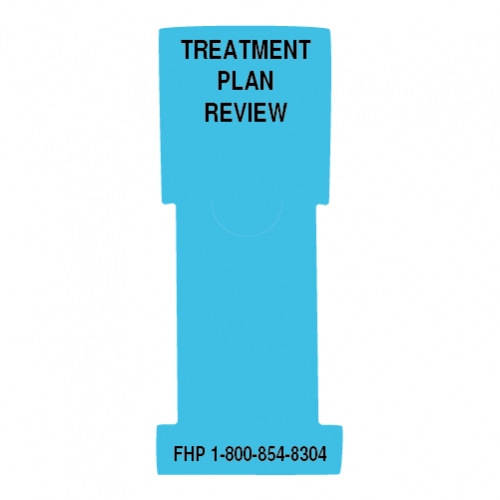 """Treatment Plan Review"" Stat Flag, Light Blue, Antimicrobial"