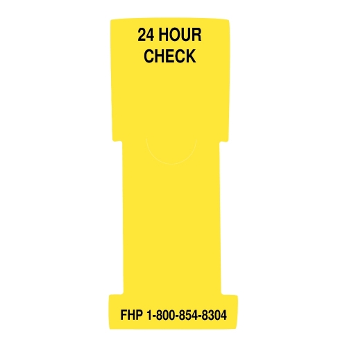 """24 Hour Check"" Stat Flag, Yellow, Antimicrobial"