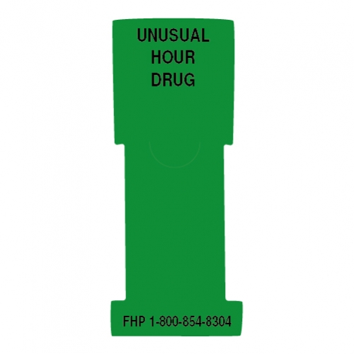 """""""Unusual Hour Drug"""" Stat Flag, Green, Antimicrobial"""