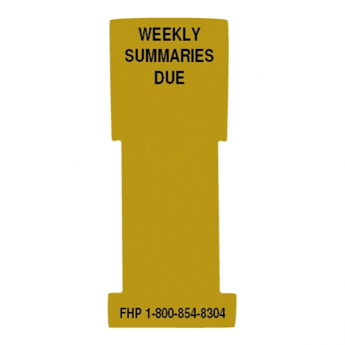 """Weekly Summaries Due"" Stat Flag, Gold, Antimicrobial"